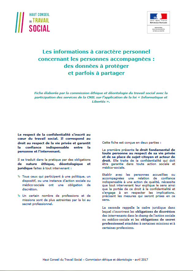 INFORMATIONS A CARACTERE PERSONNEL
